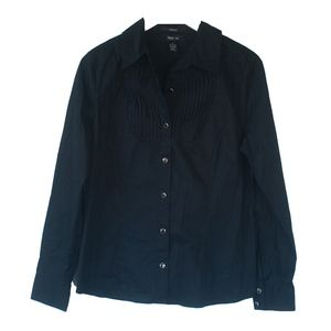 NWT Style & Co. Black Long Sleeve Button Up Shirt